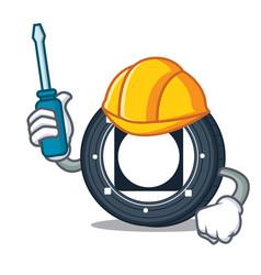 Automotive byteball bytes coin mascot cartoon vector