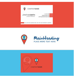 beautiful map navigation logo and business card vector image