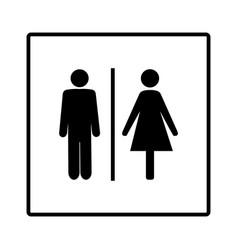 Black silhouette men and women icon in white vector