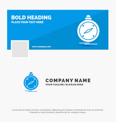 blue business logo template for compass direction vector image