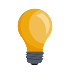 bulb power light vector image