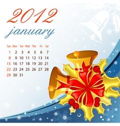 Calendar for 2012 january vector