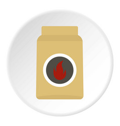 Cardboard box of matches icon circle vector