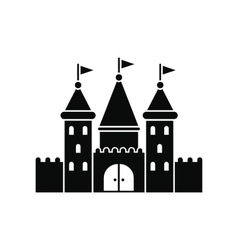 Castle black simple icon vector image
