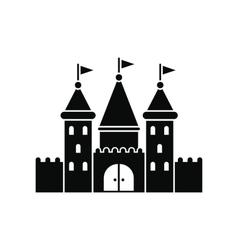 Castle black simple icon vector