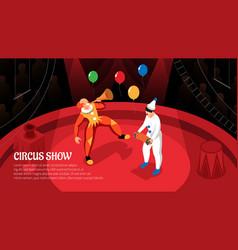 Circus show isometric horizontal vector