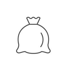 Cloth sack line outline icon vector