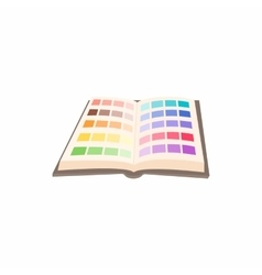 Color guide icon in cartoon style vector