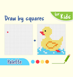 Copy picture draw squares game for small vector