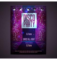 Disco background Disco poster vector
