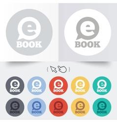 E-Book sign icon Electronic book symbol vector