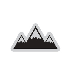 Flat web icon on white background mountains vector image