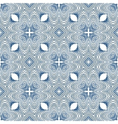 Floral blueprint mediterranian pattern vector