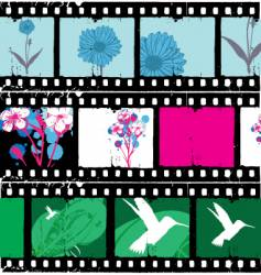 floral film strips vector image