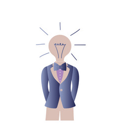 Glowing and turned off electric light bulb vector