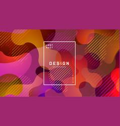 gradient fluid colorful background liquid shapes vector image