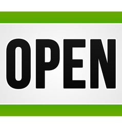 Green open sign vector