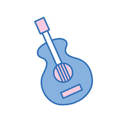 Guitar music instrument to melody harmony vector