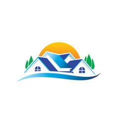 Home eco environment logo vector