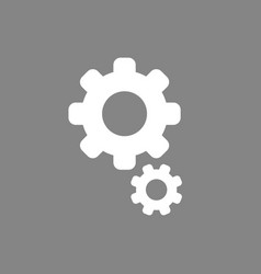 icon concept of gears on grey background vector image