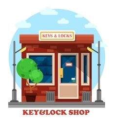 Key and locks local shop or store vector