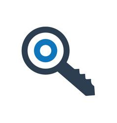 Keyword targeting icon vector
