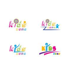kids play logo design vector image