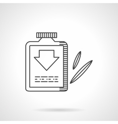 Laxative flat line design icon vector