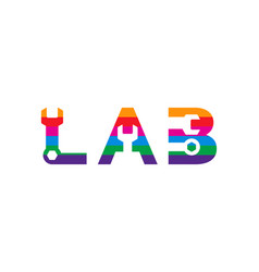 Letter l a and b logo design vector