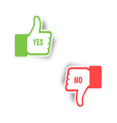 like icon yes or no thumbs up and thumbs down icon vector image