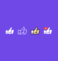 like thumbs up icon sign symbol vector image