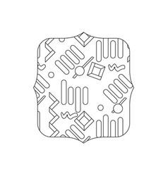Line quadrate with graphic memphis style vector