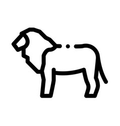 Lion icon outline vector