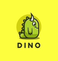 logo dino simple mascot style vector image