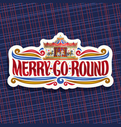 Logo for merry-go-round carousel vector