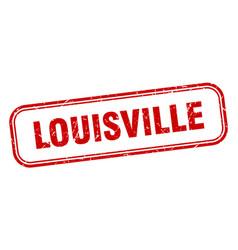 Louisville stamp louisville red grunge isolated vector
