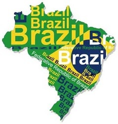 Map of Brazil 1 vector image