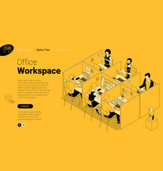 modern office coworking space vector image