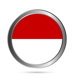 Monaco flag button vector