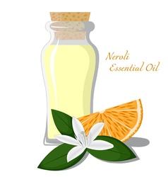 Neroli essential oil vector image