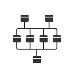Network diagram glyph icon cluster diagram vector