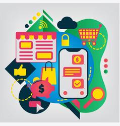 online shopping modern flat vector image