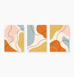 organic abstract shapes pastel colored random vector image