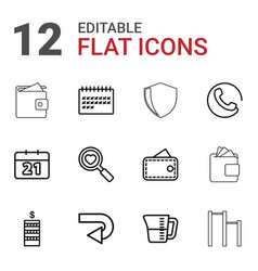 Pictograph icons vector