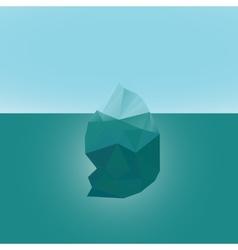 Polygonal iceberg glacier landscape vector