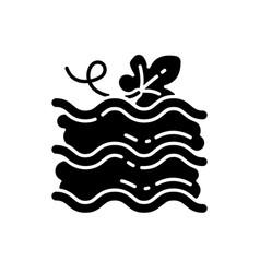 pumpkin lasagna black glyph icon vector image