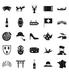 reconnaissance icons set simple style vector image