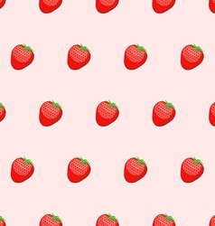 Red Strawberry seamless background Fresh ripe vector image
