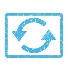 Refresh Arrows Icon Rubber Stamp vector