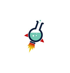 rocket lab logo vector image